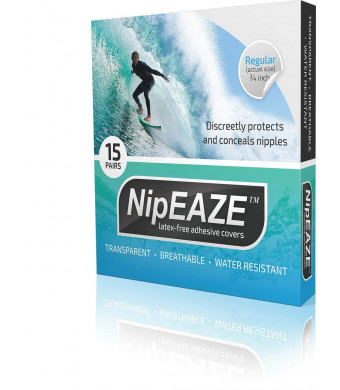 NipEaze - The Original Transparent Nip Protector - Nipple Chafing Prevention