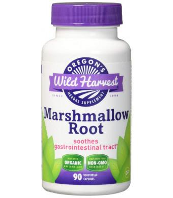 Oregon's Wild Harvest Marshmallow Organic Supplement, 90 Count vegetarian capsules, 850mg organic marshmallow root