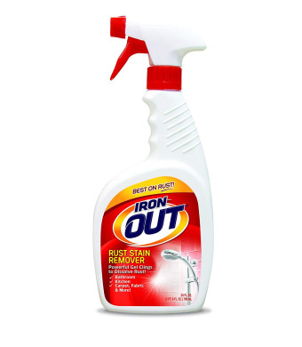 Iron OUT Rust Stain Remover Spray Gel, 24 Fl. Oz. Bottle
