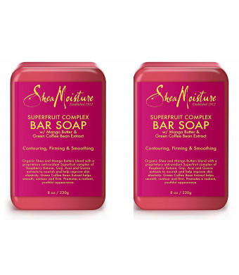 Shea Moisture Superfruit Complex Bar Soap, 8 Oz, Pack of 2