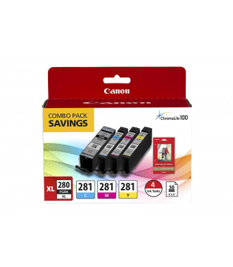Canon PGI-280 XL / CLI-281 4 Color Pack for Pixma Inkjet Printers