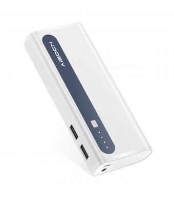Aibocn 10000mAh Power Bank Portable Charger for Phone Tablet with Flashlight, Grey - Upgraded