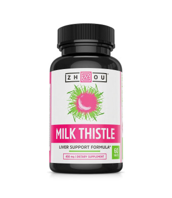 Milk Thistle Standardized Silymarin Extract for Maximum Liver Support - Detox, Cleanse and Maintain - Extract and Seed Complex - 60 Tablets