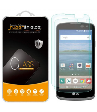 [2-Pack] Supershieldz for LG Optimus Zone 3 / LG K4 LTE / LG Spree Tempered Glass Screen Protector, Anti-Scratch, Anti-Fingerprint, Bubble Free, Lifetime Replacement Warranty