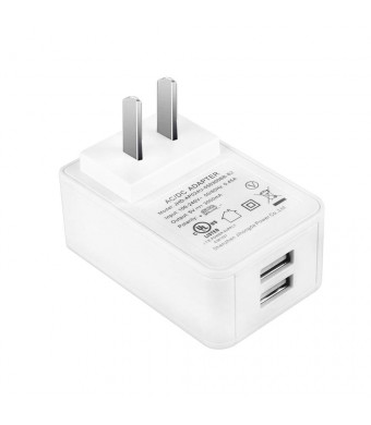 Gowoops 5V 3A Dual USB Port Wall Charger Adapter Power Supply AC/DC for iPhone iPad Samsung HTC Nexus Moto BlackBerry Huawei Xiaomi Bluetooth Speaker Headset Power Bank Tablet UL Certified