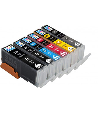 6 pack Skia Ink Cartridges for PIXMA TS9020