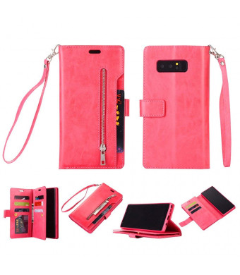 Galaxy Note 8 Wallet Case, Leather [9 Card slots] [photo and wallet pocket]