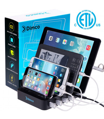 USB Fast Charging Station - Fast Charging Dock for Multiple Devices - Apple iPhone iPad Smart Charging Station - Android 4 Port Multiple Charger - Fire Tablet Micro USB Cell Phone Docking Station