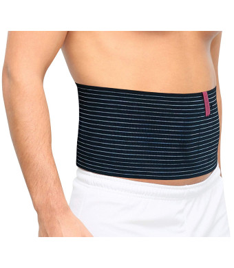ORTONYX Umbilical Navel Hernia Belt for Men and WomenAbdominal Support Binder with Compression Pad (Black, Large XXL) ACHB5241