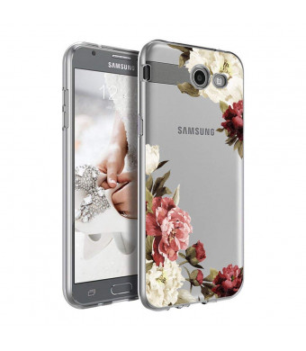 Galaxy J3 Emerge Case, Ueokeird Clear Soft Flexible TPU Watercolor Flowers Floral Printed Back Cover for Samsung Galaxy J3 Emerge/J3 Prime/J3 2017/J3 Mission/J3 Eclipse/J3 Luna Pro (Blossom Flower)