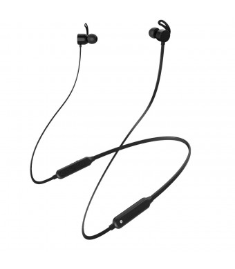 LQM Wireless Headphones,Neckband Bluetooth 4.2 Headphones,Noise Cancelling Sport Earphones,Waterproof Lightweight In-Ear Magnetic Earbuds HD Stereo Sound with Mic for Outdoor Gym Running (Black)