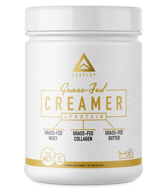Grass Fed Keto Creamer - Grass Fed Butter - Grass Fed Collagen - Grass Fed Whey - Pure C8 MCT Oil - The Perfect Keto Bomb BPC Creamer (Vanilla Sweet Cream)