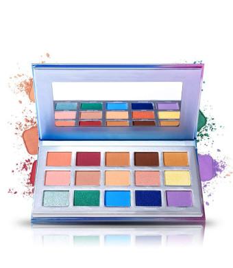 15 Eye shadow Palette Prism Makeup Matte Shimmer Pop Purple Blue Pigmented Glitter Eyeshadow Palette Makeup Pallet Cosmetics