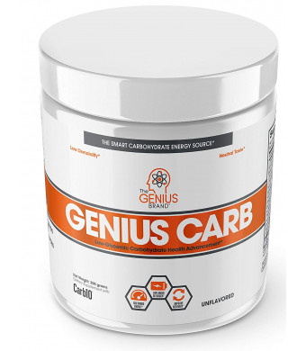 Genius Carbohydrate Powder  Smart Carb Source for Pre, Intra or Post Workout  Sustain Energy, Speed Recovery and Gain Lean Muscle Mass  Healthier Alternative to Dextrose - Sport Performance Drink