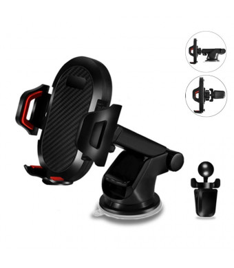 IEhotti Car Mount Phone Holder for Car Car Phone Mount for Dashboard/Windshield / Air Vent Strong Sticky Gel Pad for iPhone Xs Max R 8 Plus 7 6s SE Samsung Galaxy S9 S8 and Other Smartphones