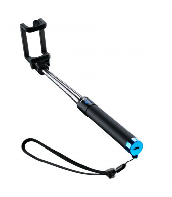Mpow Selfie Stick Bluetooth, iSnap X Extendable Monopod with Built-in Bluetooth Remote Shutter Compatible for iPhone X/8/8P/7/7P/6s/6P/5S/SE, Galaxy S5/S6/S7/S8/A7/Note, Nubia, Huawei and More(Blue)