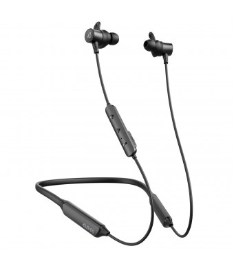 Dudios Bluetooth Headphones Neckband, apt-X Deep Bass Bluetooth Earbuds IPX5 Sweatproof Magnetic Wireless Earphones(CVC6.0 Noise Cancellation, 16 hrs Playtime) (Black)
