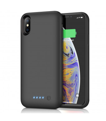 Battery Case for iPhone Xs/X, [6500mAh] Gixvdcu Rechargeable Protective Portable Charging Case for Apple iPhone X and XS Extended Charger Pack Power Bank - Black
