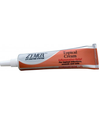 Zymox Topical Pet Cream with Hydrocortisone, 1-Ounce