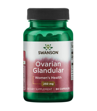 Swanson Ovarian Glandular Women's Hormone Ovarian Health Hormonal Balance Support Supplement 250 mg 60 Capsules