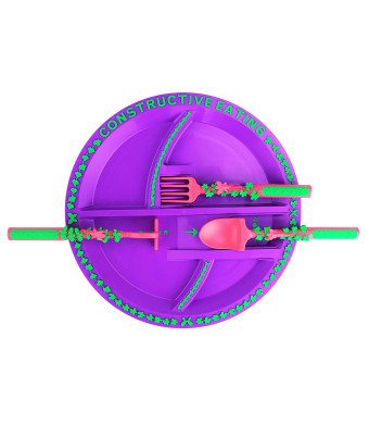 constructive eating Fairy Utensil Set with Garden Plate for Toddlers, Infants, Babies and Kids