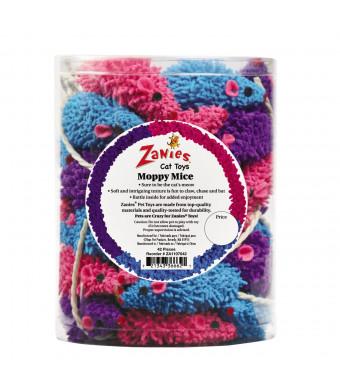 Zanies ZA11070 42 42-Piece Moppy Mice Canister Set Toy