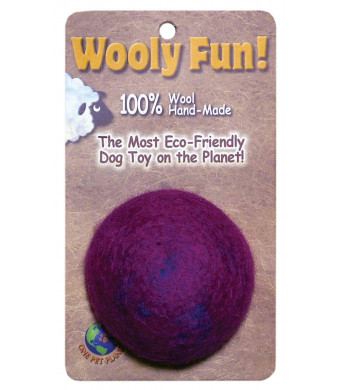 One Pet Planet 86005 2-Inch Wooly Fun Ball Dog Toy