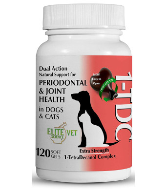 1-TDC Dual Action Natural Support  Twist Off Soft Gels | Delivers 4 Major Health Benefits for Dogs and Cats | Supports Oral Health, Hip and Joint Health, Muscle and Stamina Recovery, Skin and Coat Health