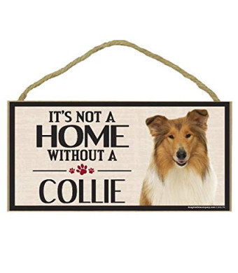 Imagine This Wood Sign for Collie Dog Breeds