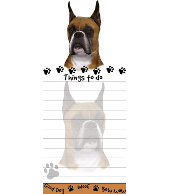 """""""Boxer Magnetic List Pads"""" Uniquely Shaped Sticky Notepad Measures 8.5 by 3.5 Inches"""