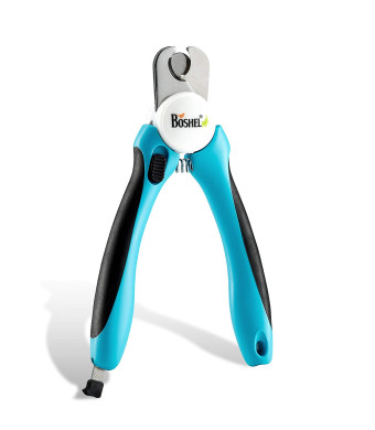 Dog Nail Clippers and Trimmer By Boshel - With Safety Guard to Avoid Over-cutting Nails and Free Nail File - Razor Sharp Blades - Sturdy Non Slip Handles - For Safe, Professional At Home Grooming