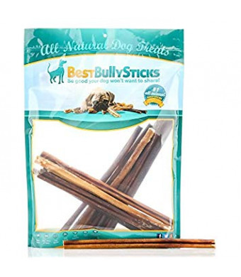 Best Bully Sticks USA Bully Sticks Dog Chews - Made in USA, All-Natural, Grass-Fed, Free-Range, Single-Ingredient, 100% Beef