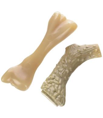 Nylabone Dura Antler and Mini Beef Bone Alternative Dog Chew Toys