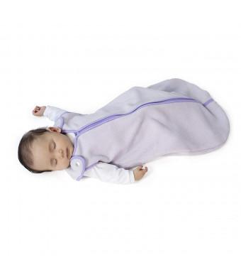 Sleep nest fleece baby sleeping bag, Lavender, Small