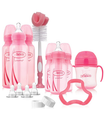 Pink Dr Brown/'s Options Baby Bottles Gift Set