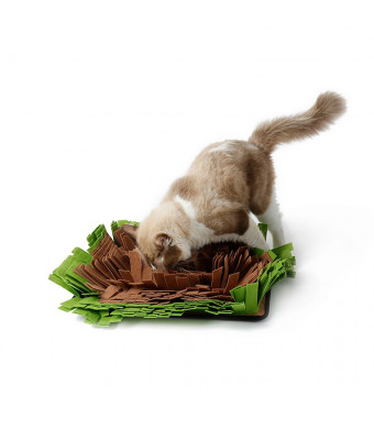 HongYH Dog Snuffle Mat - Dog Feeding Mat - Cat Training Mat - Encourages Natural Foraging Skills for Any Breed