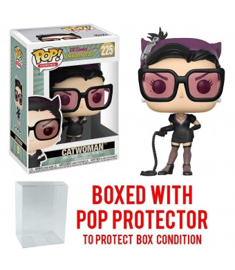 Funko Pop! Heroes: DC Bombshells - Catwoman Black Outfit Vinyl Figure (Bundled with Pop BOX PROTECTOR CASE)