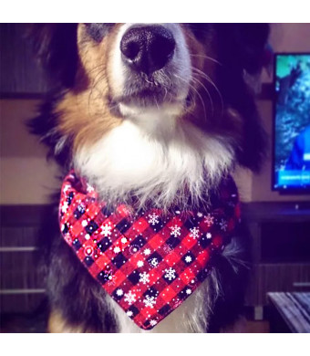 Freezx Dog Cat Bandanna Bibs Triangle Scarf - 100% Cotton Cute Fashion Accessories - for Small Medium Large Dogs Cats