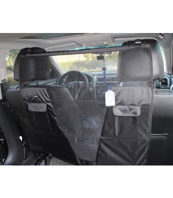 SCENEREAL Pet Dog Net Vehicle Barriers - Backseat Mesh for Cars Vehicles SUV Vans Trucks Adjustable Frontseat Belts Safe and Durable