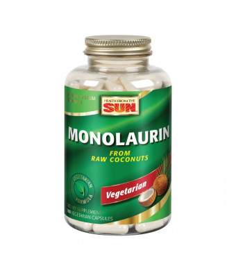 Health from the Sun Monolaurin Capsules, 990 mg | Vegetarian | Support for Healthy Immune Function and Digestion | Optimal Wellness Benefits | 180 ct