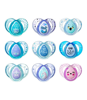 Tommee Tippee Day and Night Pacifiers, with Glow-in-The-Dark, BPA-Free, 18-36 Months, 3 Count (Colors May Vary)