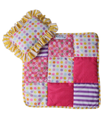 "Baby Whitney Patchwork Doll 18"" Quilt and Pillow Set (DOLL NOT INCLUDED)"