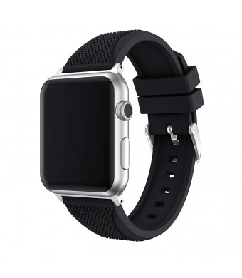 Junboer Compatible Apple Watch Band 40mm/44mm/38mm/42mm, Soft Silicone Replacement Sport Edition Wristband Strap for iWatch Series 4 Series 3 Series 2 Series 1 Smart Watch - Pineapple Pattern