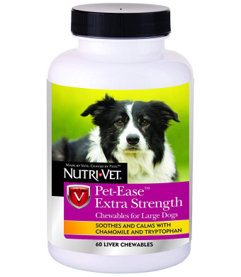 Nutri-Vet Wellness Pet-Ease Extra Strength Chewables, 60 Count