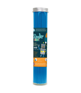 3Doodler Start 3D Printing Filament Refill Tube (x100 Strands of Plastic) - Ocean Blue