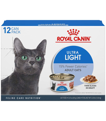 Royal Canin Feline Care Nutrition Ultra Light Thin Slices in Gravy Canned Wet Cat Food