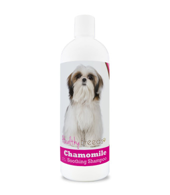 Healthy Breeds Chamomile Oatmeal and Aloe Soothing Shampoo and Conditioner - Over 200 Breeds - Safe with Flea and Tick Topicals - Orange and Cucumber Melon Scent - 8 oz