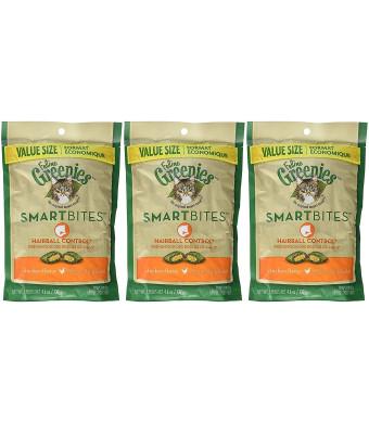 (3 Pack) Feline Greenies SMARTBITES Hairball Control, Chicken Flavor (4.6 oz Per Pack)