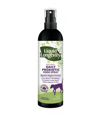 Natural Daily Liquid Probiotic Food Spray for Dogs - Supports Immune Function and Healthy Digestion in Dogs