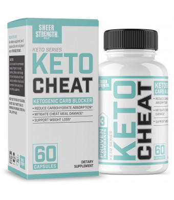 Extra Strength Ketogenic Carb Blocker and Appetite Suppressant - Promotes Healthy Weight Loss - White Kidney Bean, Green Tea Extract, Cinnamon - 60 Fat Burner Pills - Sheer Strength Labs